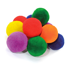 Fleece Fluff Balls 7.5cm 12pk  medium