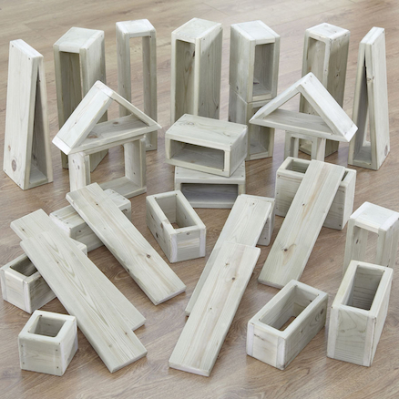 Giant Outdoor Wooden Hollow Building Blocks  large