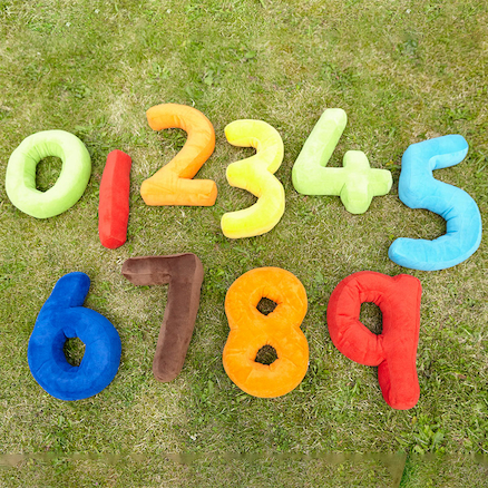 Giant Fabric Cushion Numbers 0\-9  large