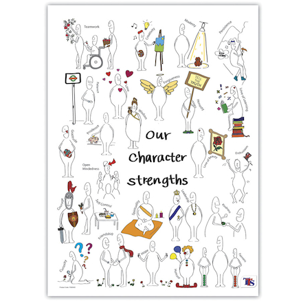 Character Strengths Playground Sign  large