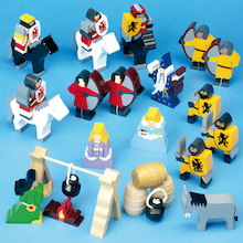 Small World Wooden Medieval Figures 24pcs  medium