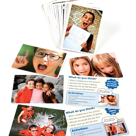 Feelings And Emotions Photo Activity Cards 50pk  large