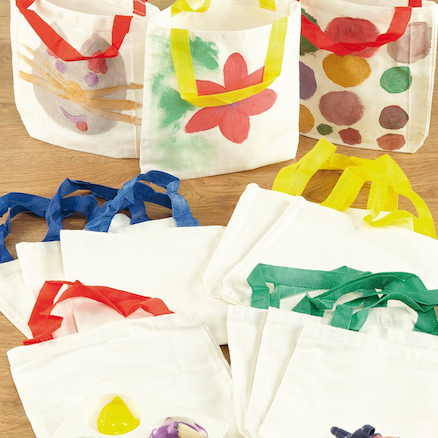 Ready To Decorate Canvas Tote Bags 12pk  large