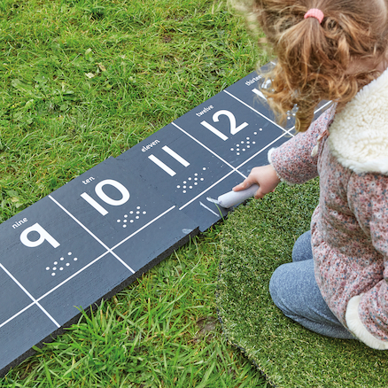 Outdoor Chalkboard Number Tracks 1\-20  large
