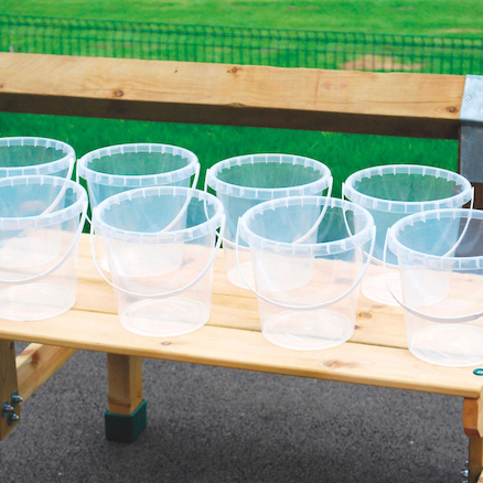Clear Plastic Buckets 8pk  large