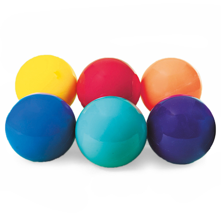 6 Colour PVC Bouncy Playground Balls 6pk  large