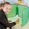 Pop\-Up Concentration Desk Barrier Green  small
