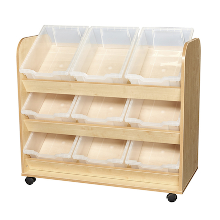 Kubbyclass Easy Access Tray Trolley  large