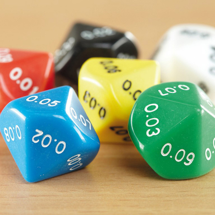 Plastic Polyhedral 10 Sided Dice 50pk  large