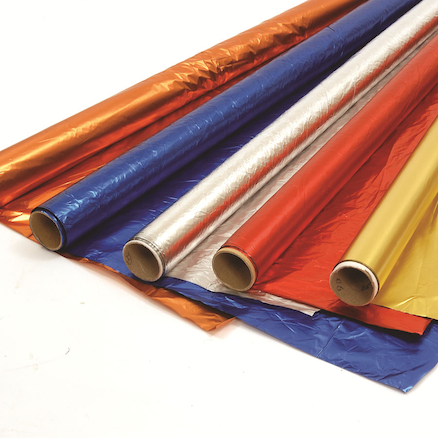 Metallic Coloured Creative Foil Silver 20m  large