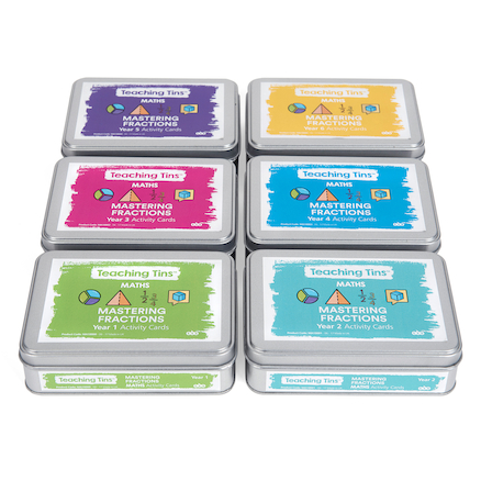 Teaching Tins Mastering Fractions Activity Cards  large