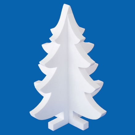 Large Polystyrene 3D Christmas Tree 5pk  large