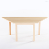 Trapezoidal Solid Beech Table L120cm  small