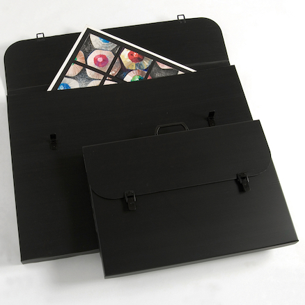 Pisces Black Portfolio Carry Case  large