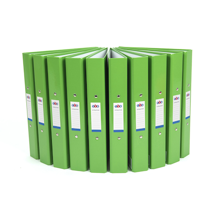 TTS Ring Binders Green 10pk  large