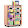 Mobile Tray Storage Unit With 8 Mixed Size Trays  small