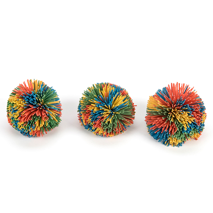 Pop Pom Balls 9cm 3pk  large