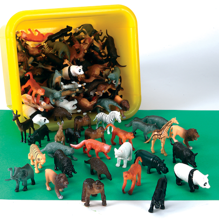 Small World Tub of Wild Animals 144 pcs  large