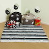 Black and White Cosy World Carpet L195 x W136cm  small