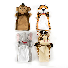 Role Play Zoo Animals Puppet Set 4pcs  medium