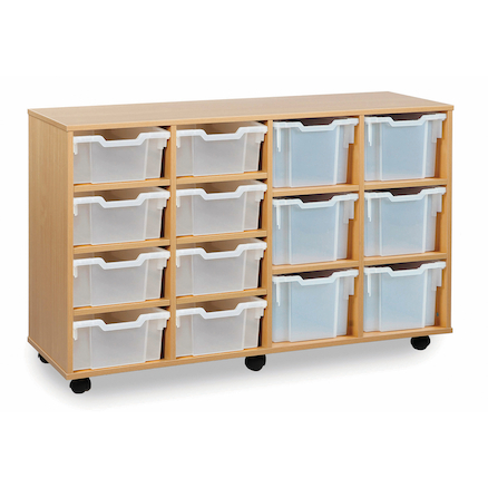 Tray Storage Unit With 8 Deep 6 Extra Deep Trays  large