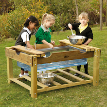 Outdoor Wooden Water Play Unit  medium