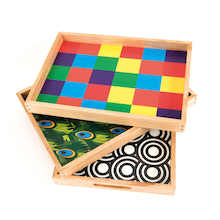 Wooden Sensory Mark Making Pattern Trays  medium