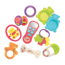 Baby Plastic Rattle Toy Set 10pcs  medium