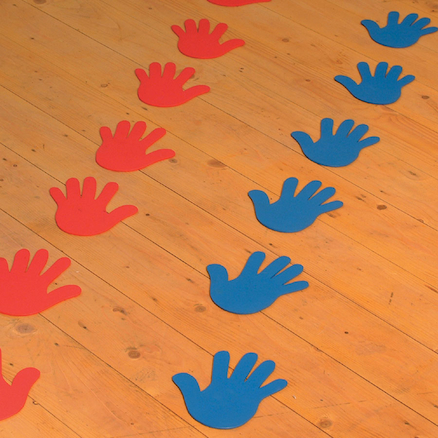 Floor Markers Hands and Feet  large