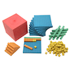Re\-Wood Dienes Base Ten Set \- 5 Colours  small