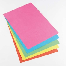 A4 Bright Coloured Card 4pk  medium