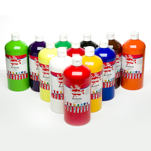 Ready Mixed Paint Assorted 1l 12pk  medium
