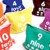 Multi Coloured Numbered Bean Bags  small