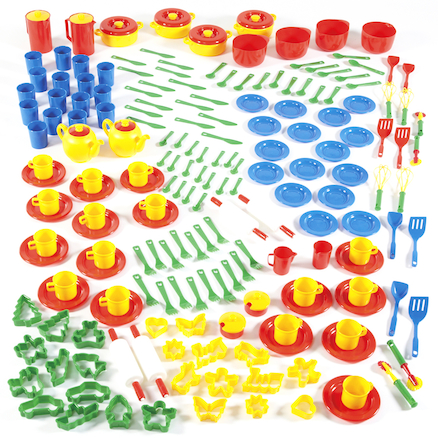Role Play Plastic Dining and Baking Set 200pcs  large