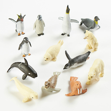 Polar Regions Small World Animal Set 13pcs  medium