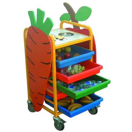 Fruit and Snack Preparation Trolley  large