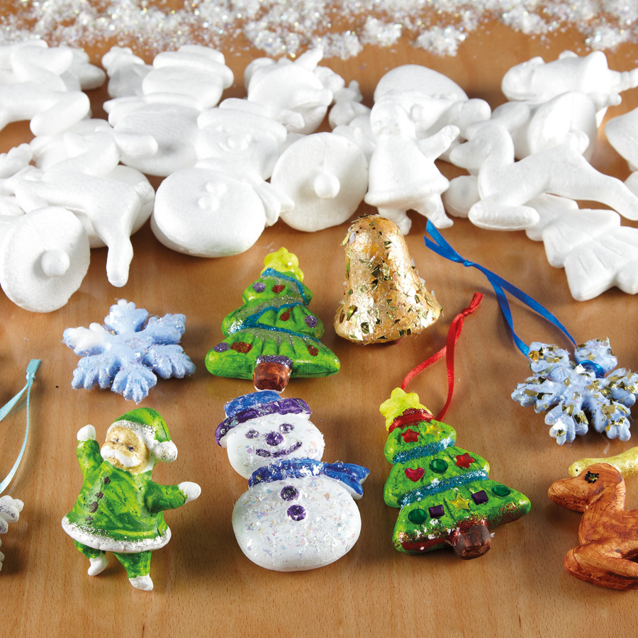 Buy assorted polystyrene christmas decorations 35pk tts for Order christmas decorations