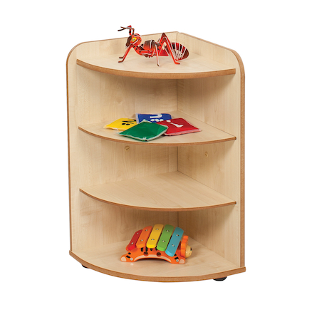 Solway Early Years 3 Shelf Corner Storage Unit  large