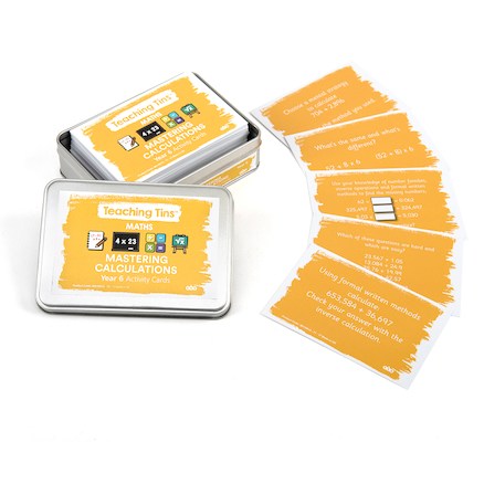 Mastering Calculation Activity Cards Year 6 100pk  large