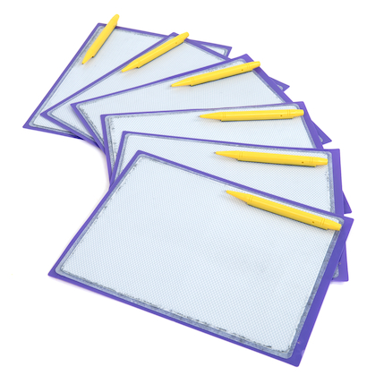Magnetic Write and Wipe Tablet 6pk  large