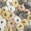 Resin Alphabet Pebbles Single Letters Set  small
