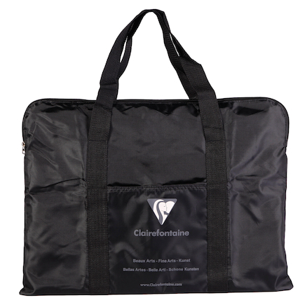 Clairfontaine Nylon Bag Art Folder Black  large