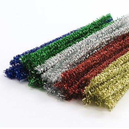 Assorted Metallic Curly Stem Pipe Cleaners 50pk  large