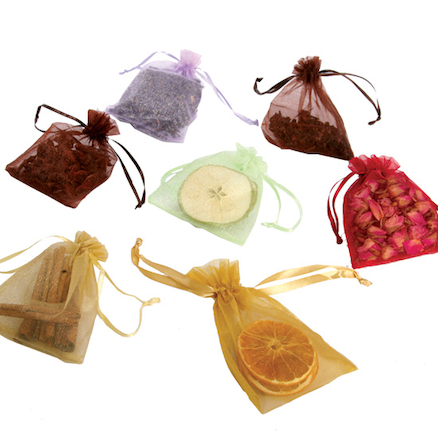 Drawstring Sensory Aroma Bags Assorted Smells 7pk  large