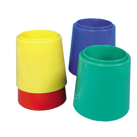 Non Spill Stable Plastic Water Pots 4pk  large