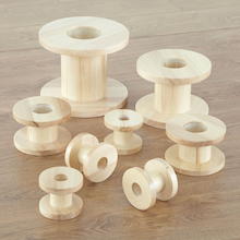 Assorted Outdoor Wooden Reels 8pk  medium