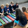 Coloured Giant Outdoor Xylophone  small