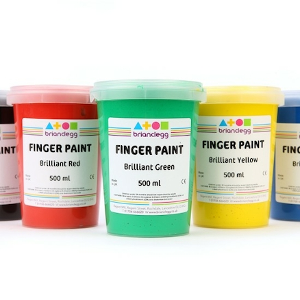 Assorted Washable Finger Paints 6pk  large