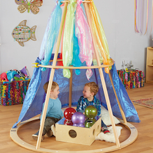 Portable Wooden Hideaway Pyramid Den  medium