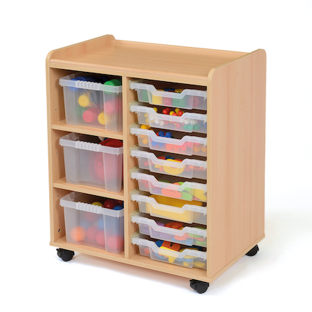 Safe Sturdy Storage Tray Units 3 Deep Trays  large